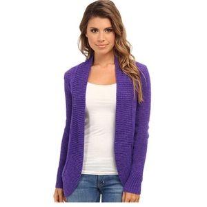 Lilly Pulitzer Purple Amalie Open Cardigan Sweater